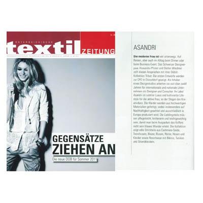 Mode PR: Textilzeitung