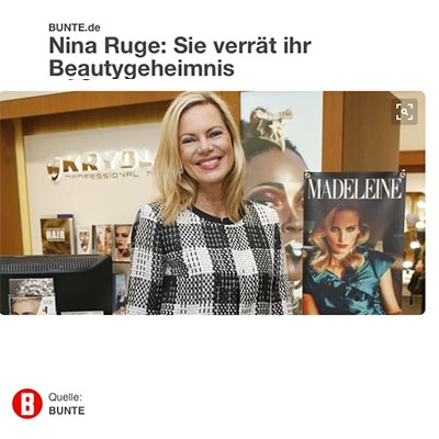 Beauty PR: Make-up - Bunte mit Nina Ruge über Kryolan