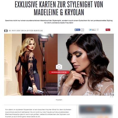 Beauty PR: Event Madeleine & Kryolan