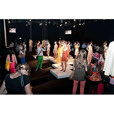 Event PR: Fashionshow Studioinstallation