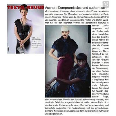 Fashion PR: Textil Revue